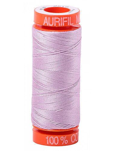Page 2 Aurifil Cotton Mako Fine Embroidery Thread 50 wt 220 yard spools