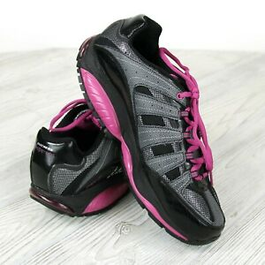 Womens-Sz-10-Skechers-Shape-Ups-Walking-Shoes-SN-12340-Grey-Black-Pink-Fitness