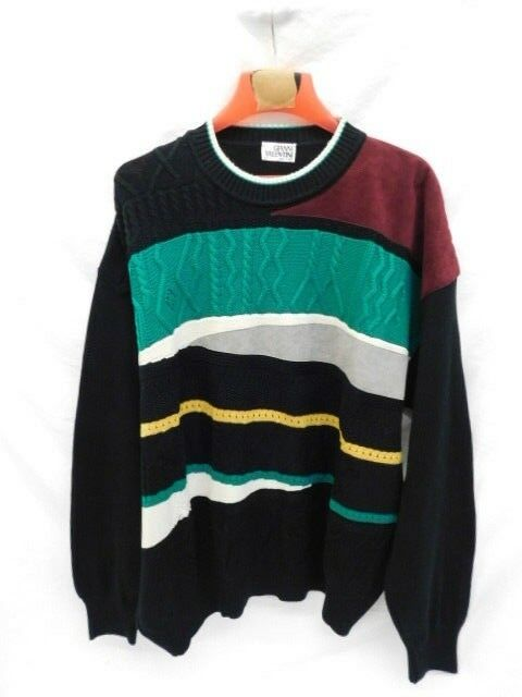 VINTAGE COOGI STYLE SWEATER SZ XL STREETWEAR DRY CLEANED HIPHOP GIANNI VALENTINI