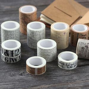 Vintage-Washi-Tape-Decorative-Paper-Masking-Tape-DIY-Adhesive-Scrapbook-Bump