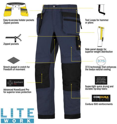 Ripstop 6206 Mens Pre Litework Navy Pantaloni Snickers Tasche Holster fg4Yw