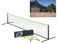 Portable Tennis Set Outdoor Sports Folding Net Racket Game Family Play Children