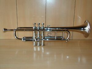 GREAT-SALE-Bb-FLAT-TRUMPET-NEW-SILVER-FREE-HARD-CASE-MOUTHPIECE-FAST-SHIP