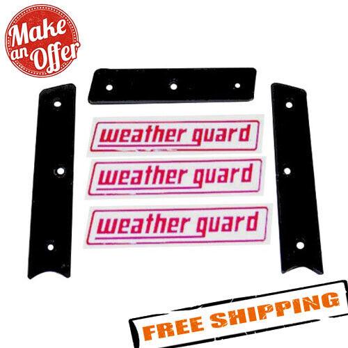 2 side bezels 7746 Weather Guard Nameplate Kit 3 Stickers 1 front bezel