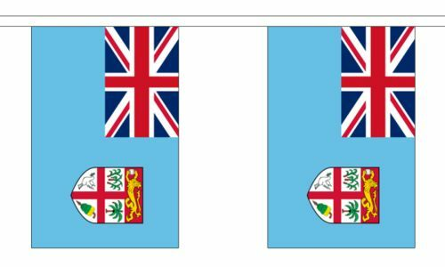 "Fiji Bunting 9M Metre Length With 30 Flags 9/""X6/"" 100/% Woven Polyester"