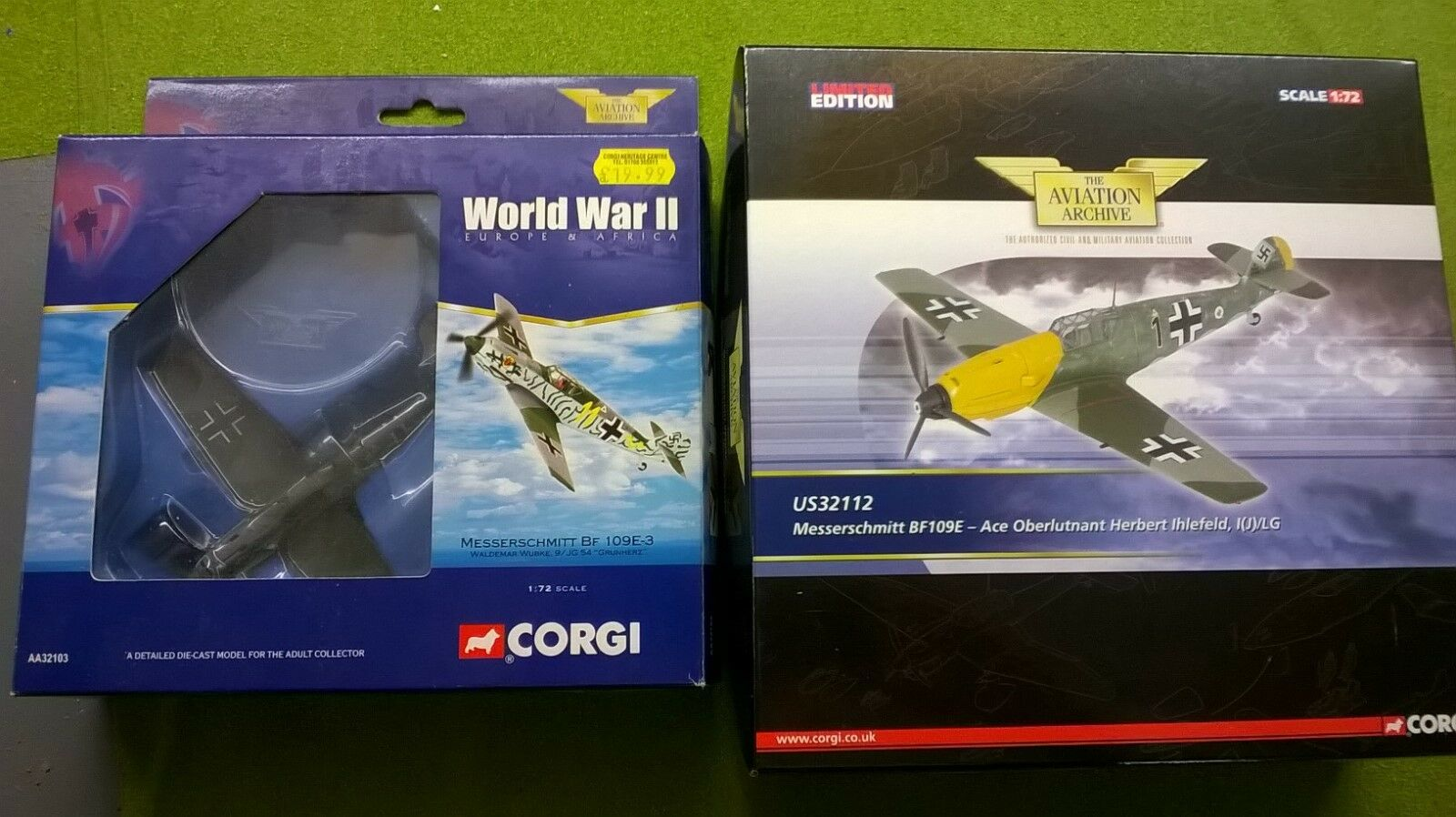US release ME109 Die Cast Models German Military Fighters  - World War II