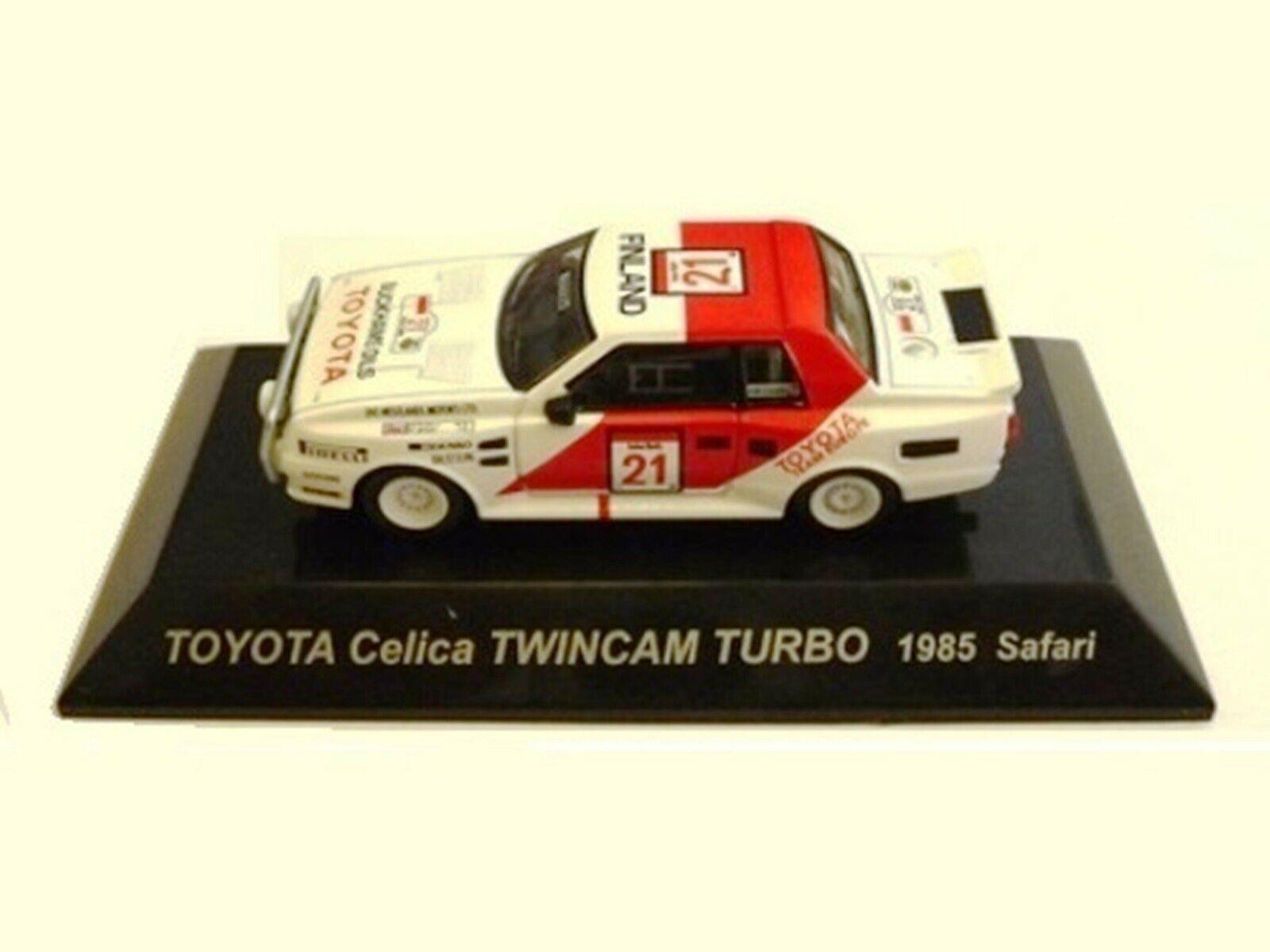 Wow extrêmement rare Toyota 1985 Celica TWIN CAM TURBO Safari WRC 1 64 cm 'S KYOSHO