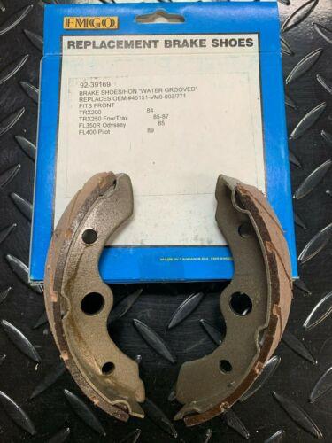 Emgo Front Brake Shoes For Honda TRX 200 /'84 /& TRX250 Fourtrax 85-87 FL350R Odys