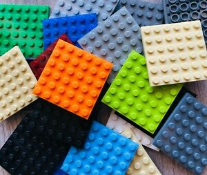 Lot-of-20-LEGO-Base-plates-thin-6x6-dot-base-plate-Pre-owned