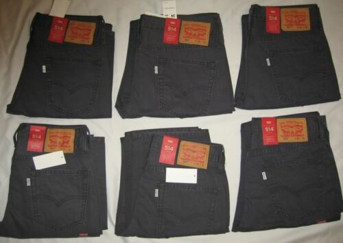 34X32 Levi/'s 514 Men/'s Jeans Straight Regular Fit Charcoal Sz 31X32 30X32