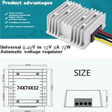 Universal Voltage Regulator 8-40V to 12V 6A 72W DC/DC Car Power Supply Regulator