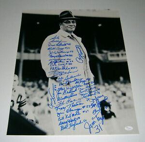 PACKERS Vince Lombardi team signed 16x20 photo 33 AUTOS Taylor Kramer Davis JSA