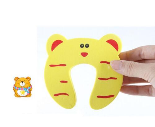 6X Baby Sicherheitsschaum Tür Jammer Schutz Fingerschutz Stopper Tier Schöne WH