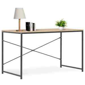vidaXL-Computer-Desk-Black-and-Oak-120cm-Home-Office-Writing-Table-Workstation