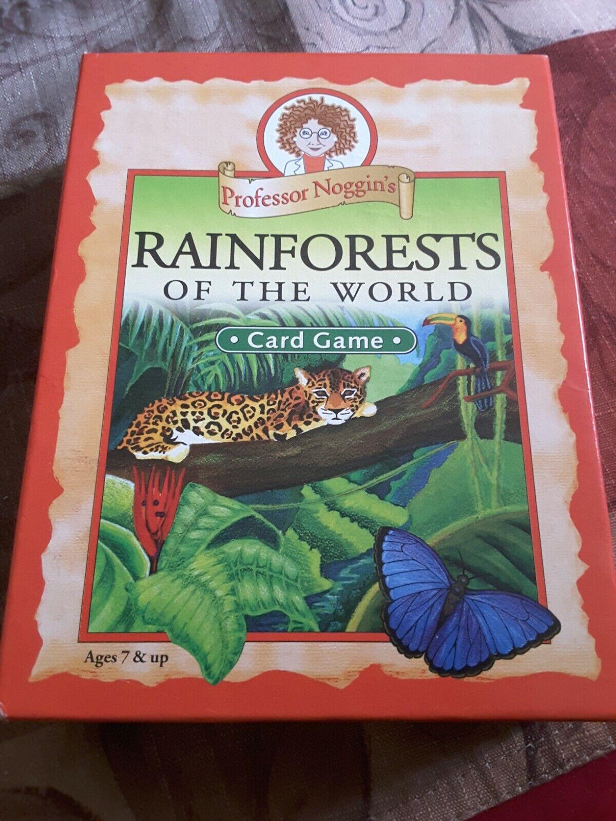 (Rainforests of the World) - Educational Trivia Card Game - Professor Noggin's 2