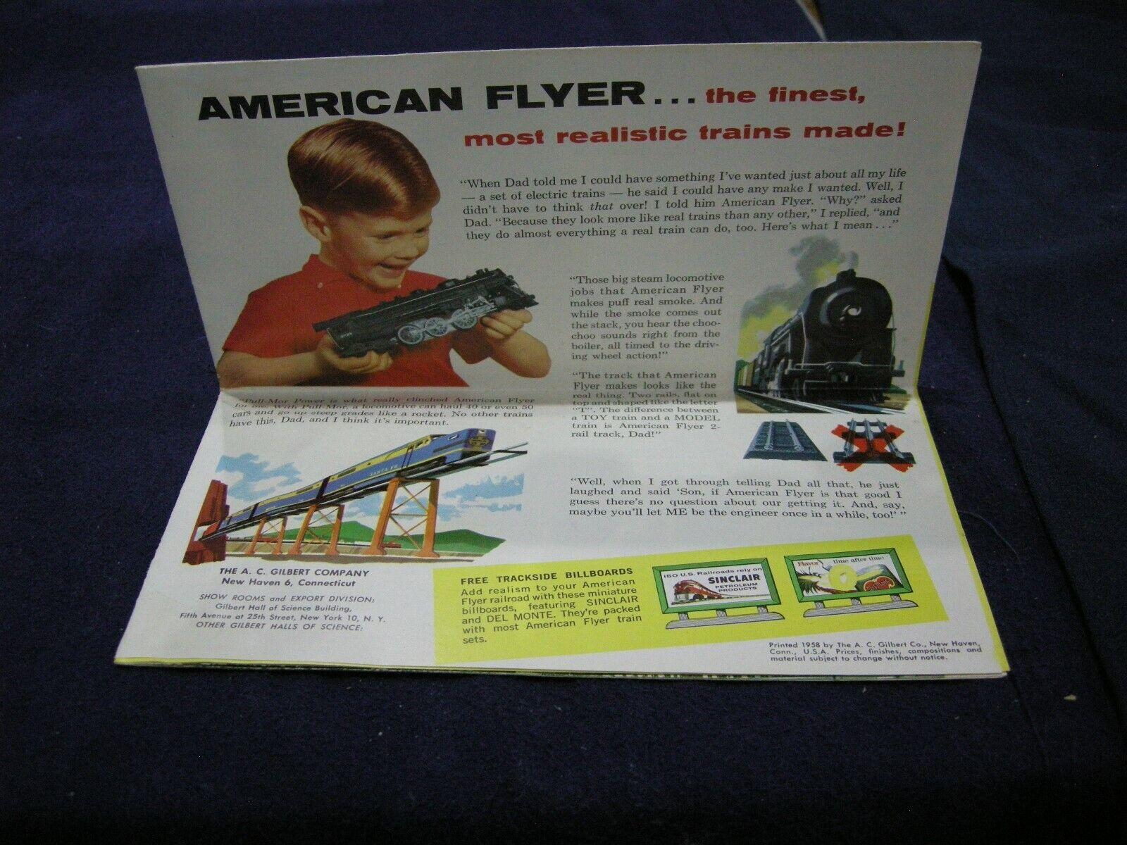 AMERICAN FLYER CATALOG 1958 completare AS AS AS mostrareN 30987a