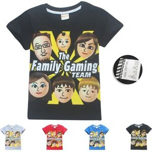 Details about New Kids Roblox Fgteev The Family Game Short Sleeve Cartoon  T-Shirts Top Clothes