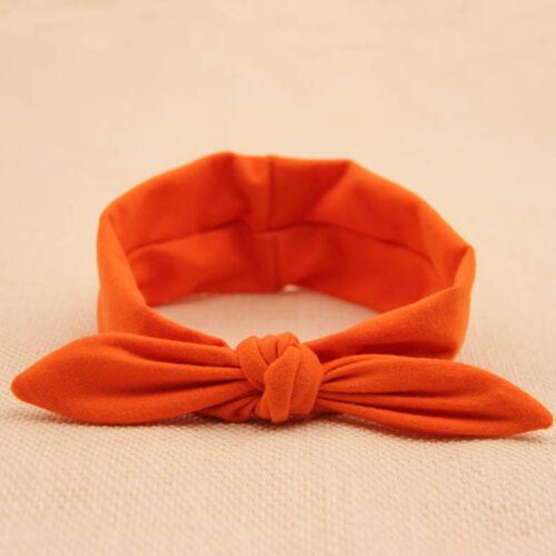 Cotton Baby Kids Girls Twist Knot Bow Hairband Headband Turban Cross Head Wrap