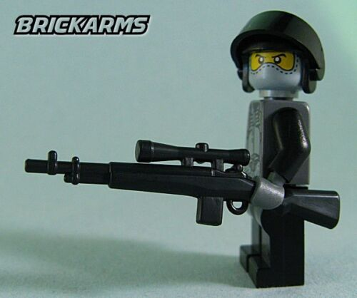 Black 5 Pack Brickarms M21 Sniper Rifle for Lego Minifigures