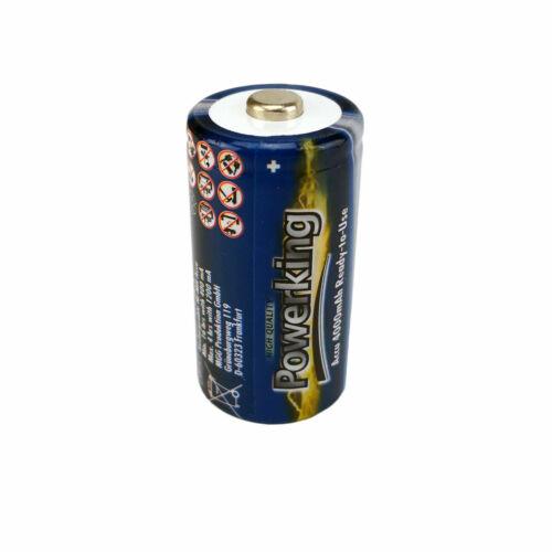 2x Powerking Akku HR14 Wiederaufladbare Batterien Accu 4000mAh NiMH 1.2V Baby C