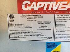 Captive Aire Power Ventilator Exhaust Fan Usbl13dd Rm Commercial Hood