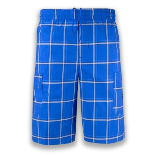 NEW Men Plaid Cargo Shorts Elastic Waist BIG /& Tall S-5XL Drawstrings 5 Colors