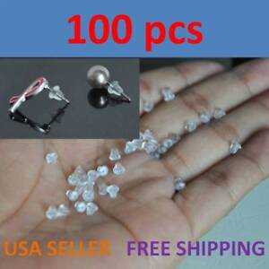 500 Pieces Heavy Duty Rubber Earring Backs Sleeves Holders Stopper Nuts Silicone