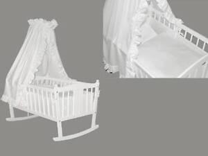 wiege kufenwiege weiss komplett farbauswahl ebay. Black Bedroom Furniture Sets. Home Design Ideas