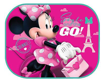 2 Disney Minnie Maus Kinder Baby Autofenster Schutz Seitensonnenschutz