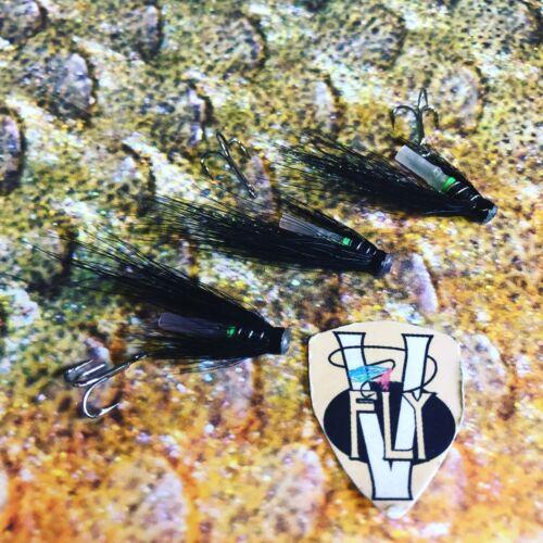 3 V FLY 3//4 pollici Ultimate Verde Butt Islandese Hitch Tubo Salmone Mosche /& Ganci