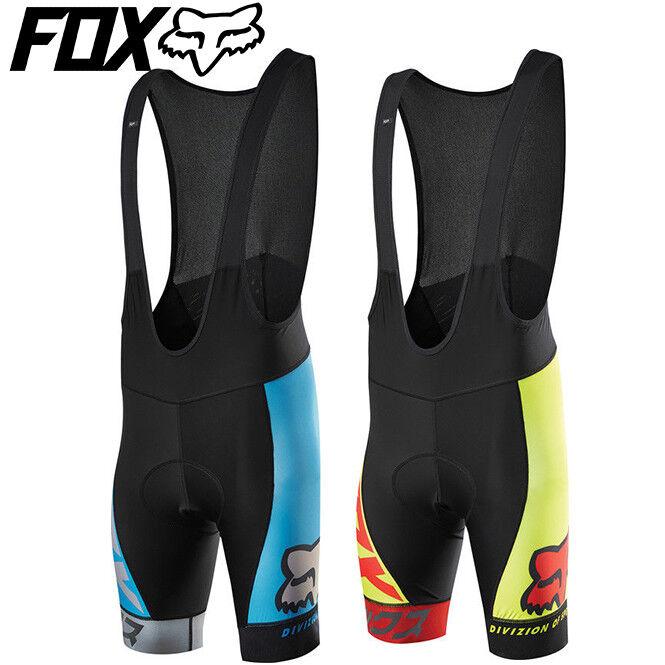 Fox Ascent Pro Bib courtes for Cycling 2016 - S M L XL - rouge, bleu