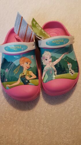 Frozen  Anna and Elsa Crocs Pink Uk3