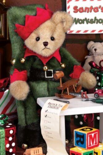 "14/"" JINGLE TOES*Bearington Teddy Bear*CHRISTMAS*DRESSED AS ELF*NEW*NWT*173239"