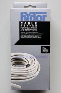 Câble chauffant Hydor 75w Pour aquariums / terrariums Chauffage par le sol