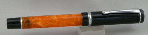 Conklin Duragraph Orange Nights Orange//Black Fountain Pen Medium Nib NEW!
