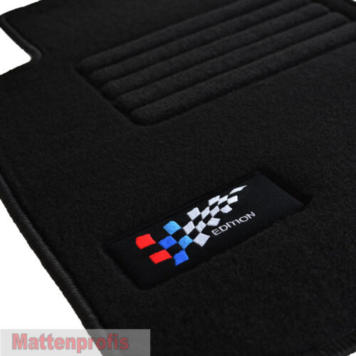Velours Logo Edition Autoteppiche Fußmatten für BMW 1er E87 ab Bj.2004-2012