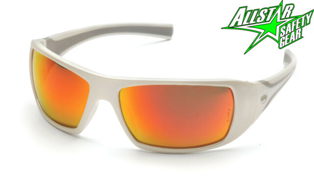 Pyramex Goliath Red Mirror Lens Safety Glasses Sunglasses SW5655D Motorcycle