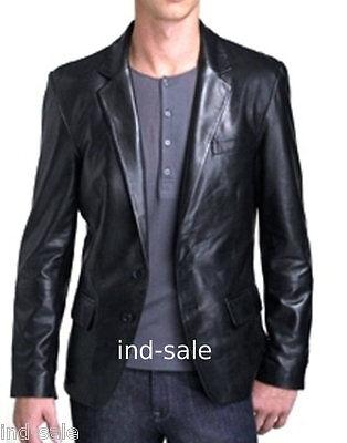 Custom Tailor Made All Sizes Genuine LEATHER JACKET EDH Blazer Slim Fit Designer