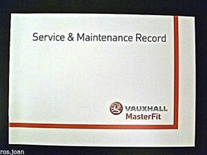 Vauxhall AGILA Service History Record Book All Models Brand New Genuine