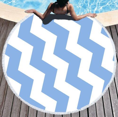 Details about  /3D Blue Wave NA4083 Summer Plush Fleece Blanket Picnic Beach Towel Fay