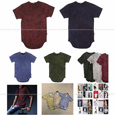 EPTM Men's Long T-Shirt Mineral Wash Extended Tee Basic T Hip Hop Made in USA