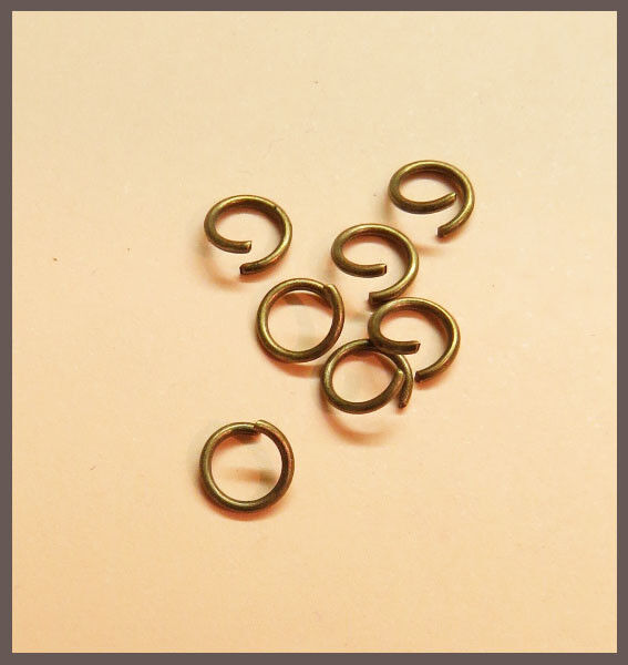 Bastelbedarf Metallringe Binderinge geschlossen silber Blei und Nickelfrei NEU