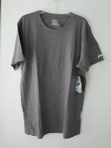 49d3114c2e64 Asics Mens Team Tech Tee Shirt Short Sleeve Basic Gray Crew Neck Sz ...
