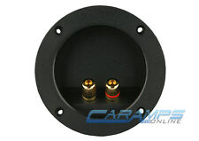 NEW SUBWOOFER SPEAKER ROUND BOX TERMINAL SCREW CUP PLATE CONNECTOR SUB