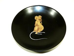 Vintage Couroc Inlaid Tray Mouse Bowl