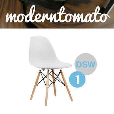 Premium White DSW Dowel Wood Leg Side Chair Mid Century Modern MCM