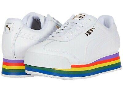 Women's Shoes PUMA ROMA AMOR RAINBOW Leather Platform Sneakers 37364701  WHITE | eBay