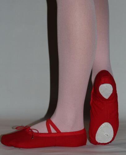 Scarpe Da Danza Classica  Da Adulto Da Bambini In Tela Rosa Nero Rosso E Bianco