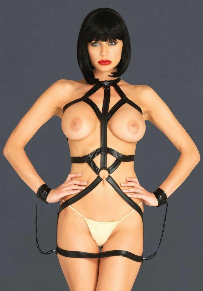 Club-body-noir-lingerie - Taille 36 - 42-leg Avenue Ki4024-extravagnant