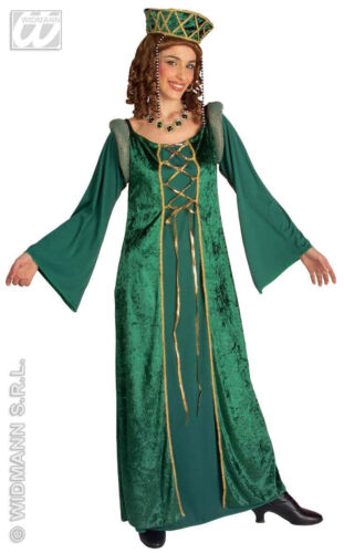 Ladies Medieval Emerald Tudor Queen Costume Fancy Dress Princess Fiona Outfit XL